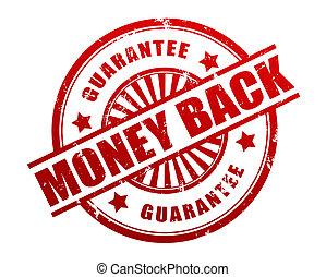 money back guarantee stamp concept 3d illustration
