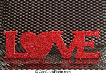 Valentine's Day. Love in red letters