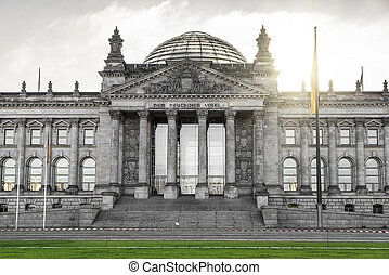 German Bundestag building in Berlin. German parliament at...