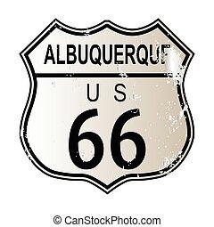 Albuquerque Route 66 Sign