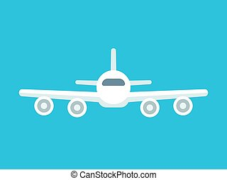 Airplane front view - Flying airplane front view icon....