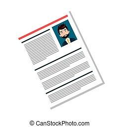 man curriculum vitae - cartoon man professional curriculum...