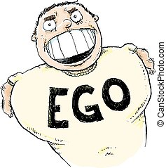 Big Ego - A cartoon man with the word 'EGO' printed on his...