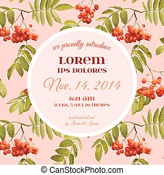 Invitation or Congratulation Card - for Wedding, Baby Shower...