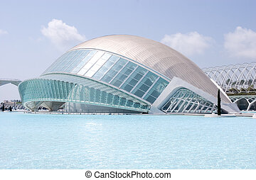 Valencia, Spain - The Hemisf?ric Center Dome in Valencia...