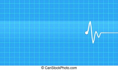 Cardiogram - Realistic indicators of human heartbeat.