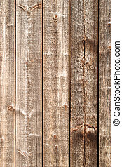 Wooden planks. - Wall with wooden planks.