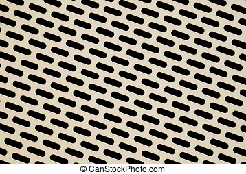 Perforated metal as a paneling for the facade of a parking...