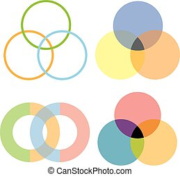 intersection circles design - vector intersection circles...