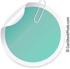 Green round sticker
