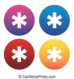 Asterisk sign or asterisk icon