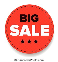 Big Sale label red
