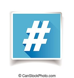 Hashtag sign or hashtag icon