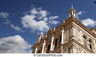 Plaza de Espana in Seville, Spain - Buildings on the Famous...