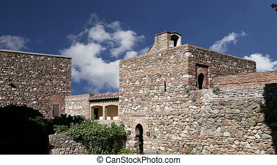 Alcazaba castle.Malaga, Spain - Alcazaba castle on...