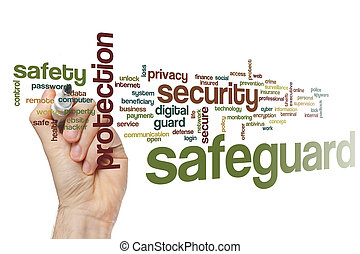 Safeguard word cloud concept