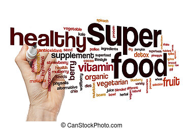 Super food word cloud concept