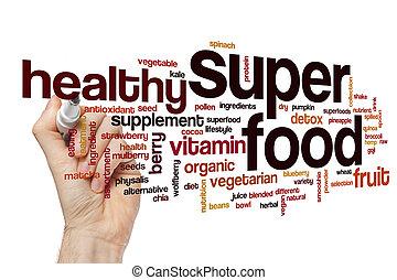 Super food word cloud concept