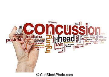 Concussion word cloud concept - Concussion word cloud