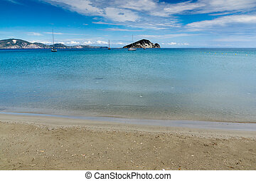marathia beach at Zakynthos - Panoramic view of marathia...