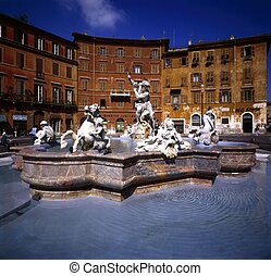 Bernini Fountain, Piazza Navona, Rome