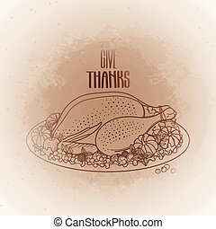 Graphic festive turkey