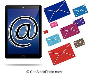 tablet and email communication