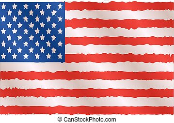 illustration of waving American Flag