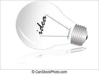 Light bulb isolated on white, vector