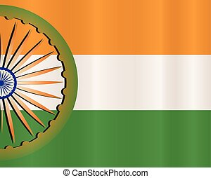 vector indian flag design in wave style