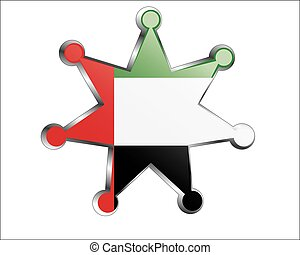 medal with the national flag of United Arab Emirates