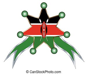 medal with the national flag of kenya