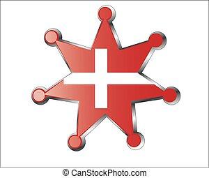 Denmark flag medallion