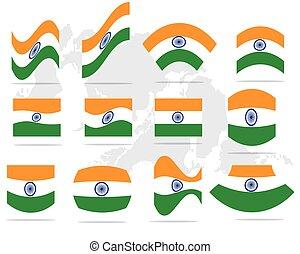 India flag icon set