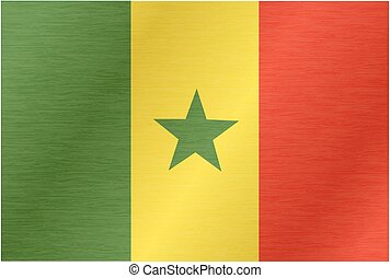 Flying Flag of Senegal