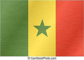 Flying Flag of Senegal