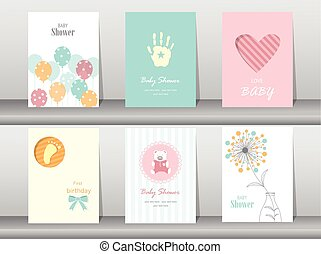 Collection of  baby shower
