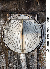 Sundial - Closeup view at sundial clock in Mumbai, India