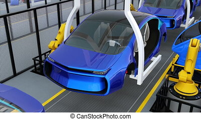 EV doors assembly line - Electric vehicles doors assembly...