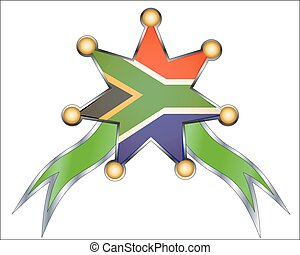medal with the national flag of South Africa