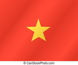 Vietnam waving flag