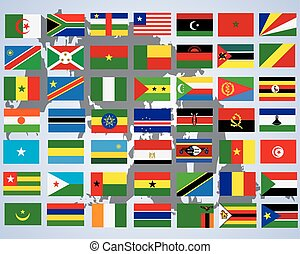 Flags of Africa- complete set of flags in original colors...
