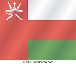 Flag of Oman waving in the wind