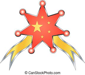 medal with the national flag of China