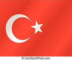 Turkey waving flag