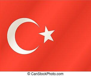 Turkey waving flag