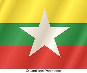 Myanmar flag collection Burma flag
