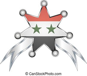 medal with the national flag of Syria