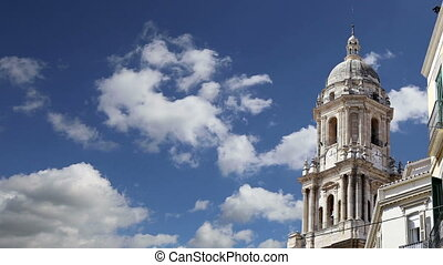 Cathedral of Malaga.Spain. - Cathedral of Malaga is a...