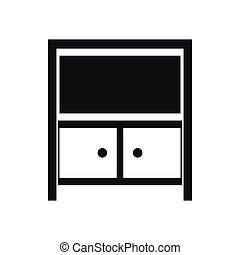 Vintage sideboard icon, simple style